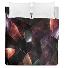 Crystals Background Design Luxury Duvet Cover Double Side (queen Size) by Nexatart