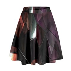 Crystals Background Design Luxury High Waist Skirt by Nexatart