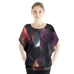 Crystals Background Design Luxury Blouse