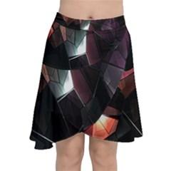 Crystals Background Design Luxury Chiffon Wrap by Nexatart