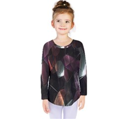 Crystals Background Design Luxury Kids  Long Sleeve Tee