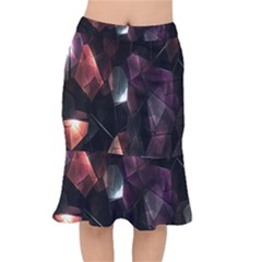 Crystals Background Design Luxury Mermaid Skirt