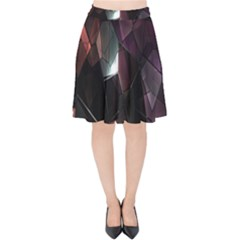 Crystals Background Design Luxury Velvet High Waist Skirt by Nexatart