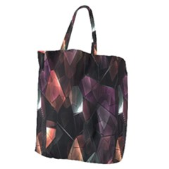 Crystals Background Design Luxury Giant Grocery Zipper Tote
