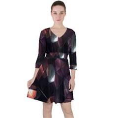 Crystals Background Design Luxury Ruffle Dress