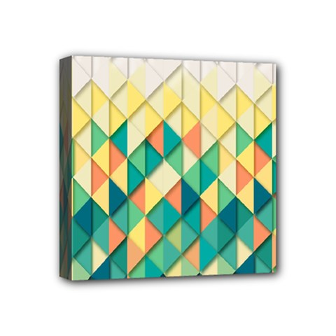 Background Geometric Triangle Mini Canvas 4  X 4