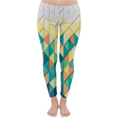 Background Geometric Triangle Classic Winter Leggings