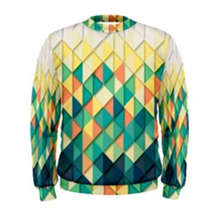 Background Geometric Triangle Men s Sweatshirt