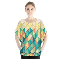 Background Geometric Triangle Blouse