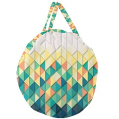 Background Geometric Triangle Giant Round Zipper Tote by Nexatart