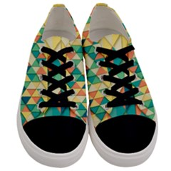 Background Geometric Triangle Men s Low Top Canvas Sneakers