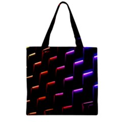 Mode Background Abstract Texture Zipper Grocery Tote Bag