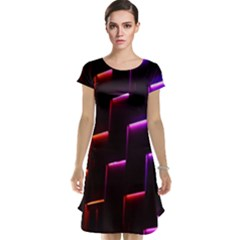 Mode Background Abstract Texture Cap Sleeve Nightdress