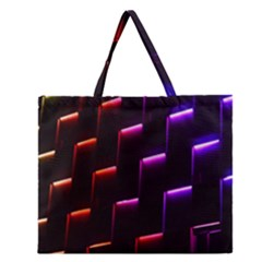 Mode Background Abstract Texture Zipper Large Tote Bag