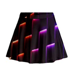 Mode Background Abstract Texture Mini Flare Skirt