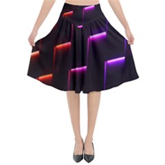 Mode Background Abstract Texture Flared Midi Skirt by Nexatart