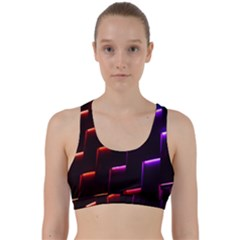 Mode Background Abstract Texture Back Weave Sports Bra by Nexatart