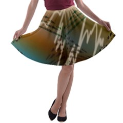 Pop Art Edit Artistic Wallpaper A Line Skater Skirt
