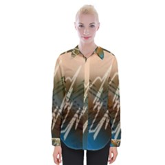 Pop Art Edit Artistic Wallpaper Womens Long Sleeve Shirt