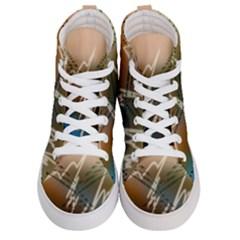 Pop Art Edit Artistic Wallpaper Women s Hi Top Skate Sneakers