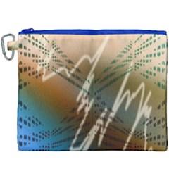 Pop Art Edit Artistic Wallpaper Canvas Cosmetic Bag (xxxl)