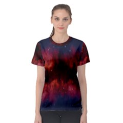Astronomy Space Galaxy Fog Women s Sport Mesh Tee