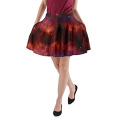 Astronomy Space Galaxy Fog A Line Pocket Skirt by Nexatart