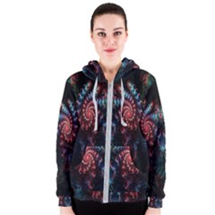 Abstract Background Texture Pattern Women s Zipper Hoodie