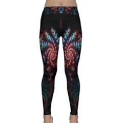 Abstract Background Texture Pattern Classic Yoga Leggings