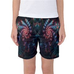 Abstract Background Texture Pattern Women s Basketball Shorts