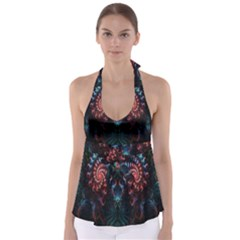 Abstract Background Texture Pattern Babydoll Tankini Top