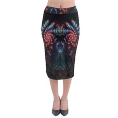 Abstract Background Texture Pattern Midi Pencil Skirt