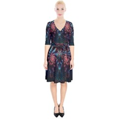 Abstract Background Texture Pattern Wrap Up Cocktail Dress
