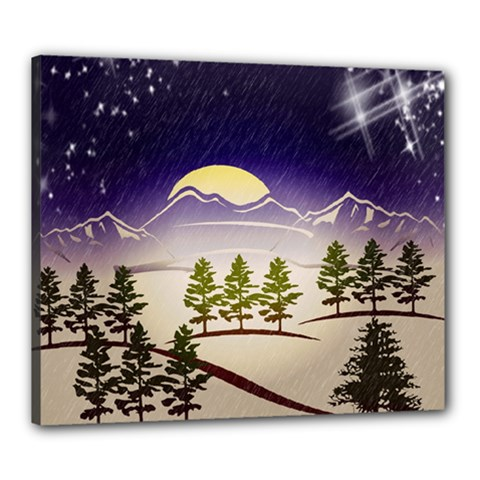 Background Christmas Snow Figure Canvas 24  X 20