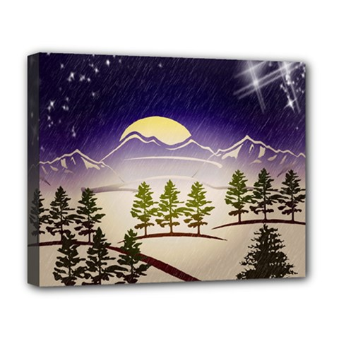 Background Christmas Snow Figure Deluxe Canvas 20  X 16