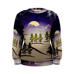 Background Christmas Snow Figure Women s Sweatshirt