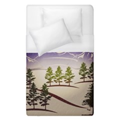 Background Christmas Snow Figure Duvet Cover (single Size)