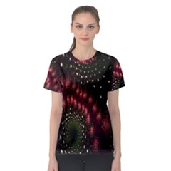 Background Texture Pattern Women s Sport Mesh Tee