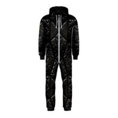 Emboss Luxury Artwork Depth Hooded Jumpsuit (kids)