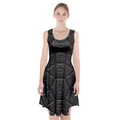 Emboss Luxury Artwork Depth Racerback Midi Dress