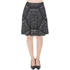 Emboss Luxury Artwork Depth Velvet High Waist Skirt