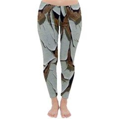 Dry Nature Pattern Background Classic Winter Leggings