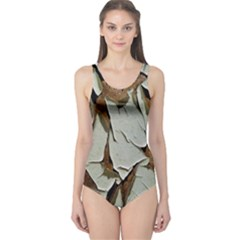 Dry Nature Pattern Background One Piece Swimsuit