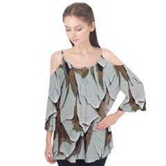 Dry Nature Pattern Background Flutter Tees