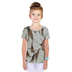 Dry Nature Pattern Background Kids  One Piece Tee
