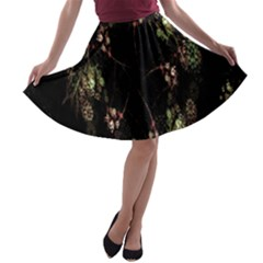 Fractal Art Digital Art A Line Skater Skirt