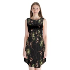 Fractal Art Digital Art Sleeveless Chiffon Dress
