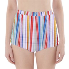 Background Decorate Colors High Waisted Bikini Bottoms