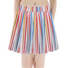 Background Decorate Colors Pleated Mini Skirt