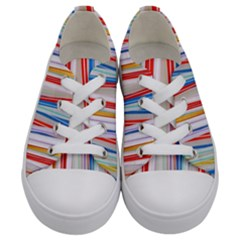 Background Decorate Colors Kids  Low Top Canvas Sneakers